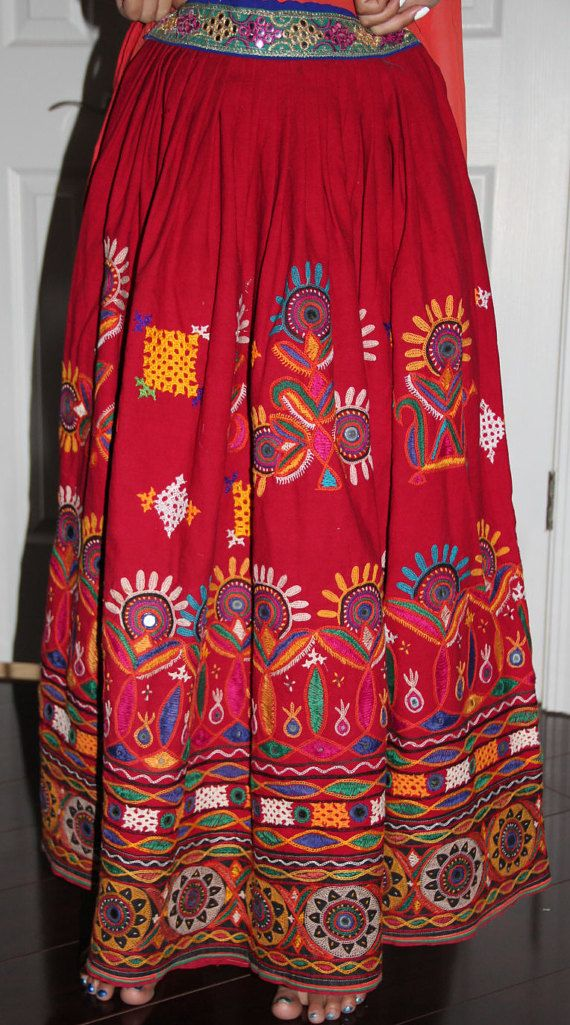 ac87ab8281f0c8 Beautiful Original Vintage Rabari Ghagra{Skirt} with Kutchi hand ...
