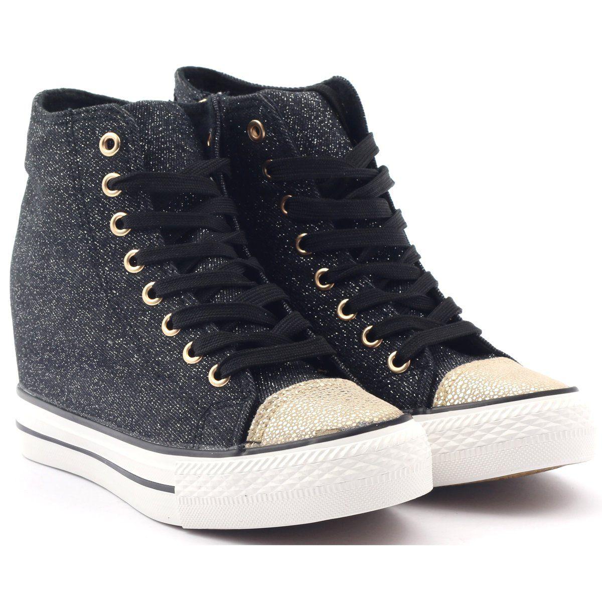 Tenisowki Damskie Mcarthur Zolte Trampki Sneakersy Czarne Mcarthur Sneakers Sneakers Black Women Shoes