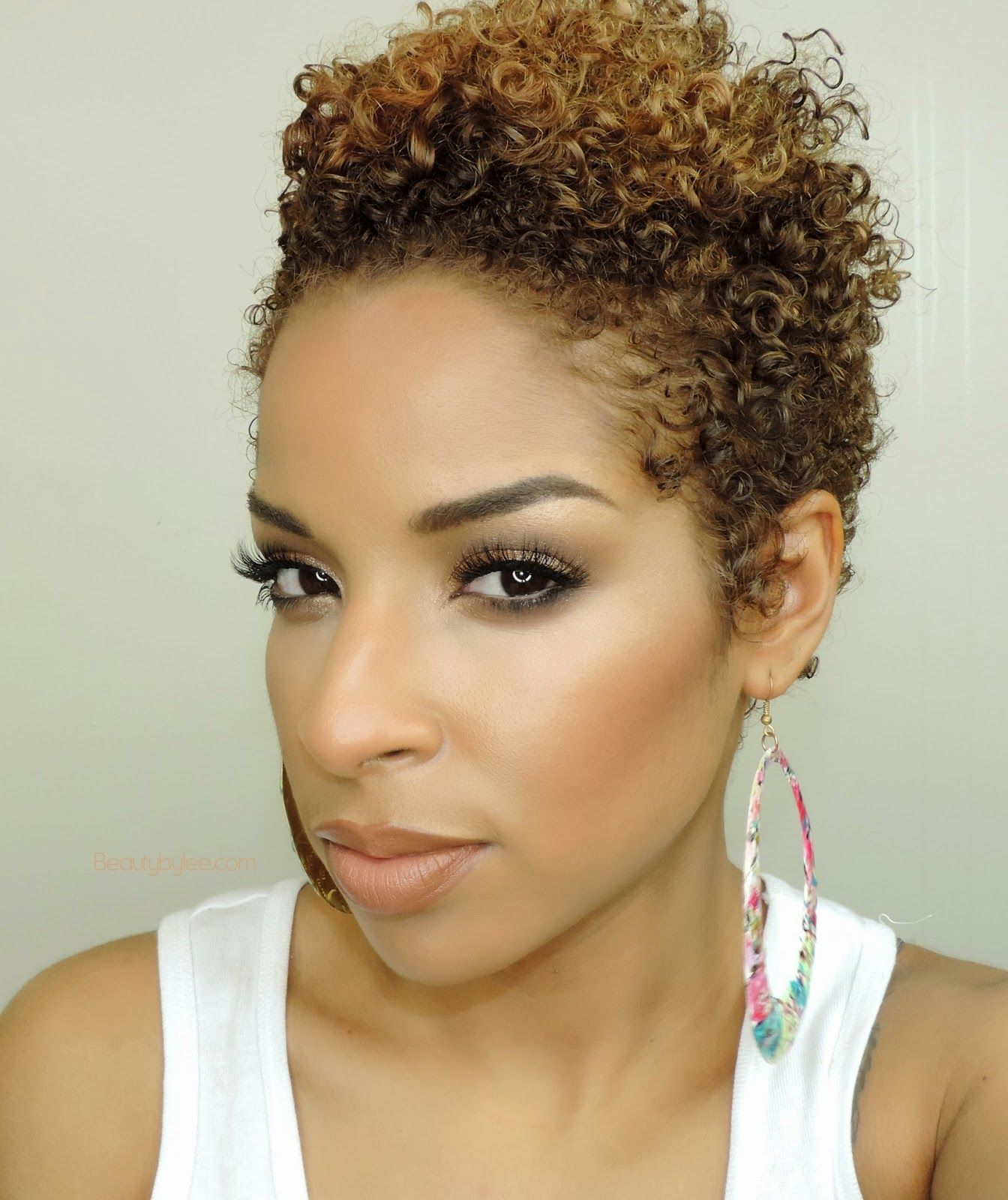 Short Natural Hairstyles With Color: Beauty By Lee: Get The Look