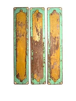 Uptown Down Set of 3 Shabby Chic Panels