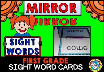 #MIRROR #SIGHT #WORD: #DOLCH #FIRST #GRADE #WORDS WHAT A FUN AND MOTIVATING WAY FOR KIDS TO READ AND PRACTICE SIGHT WORDS! Children will surely learn their sight words while having lots of fun as they use a mirror to reveal the 'magic' sight words on the cards!