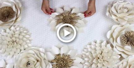 DIY Paper Flower Tutorial | My Wedding Backdrop Flowers | Template #5 #diy #flowers #bigpaperflowers