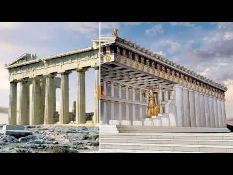 YouTube Parthenon Reconstruction As It Was In Ancient Times