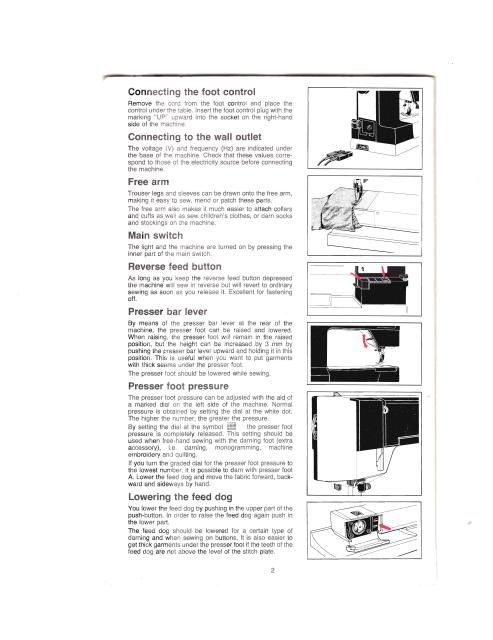 Husqvarna Classica 100 Sewing Machine Instruction Manual