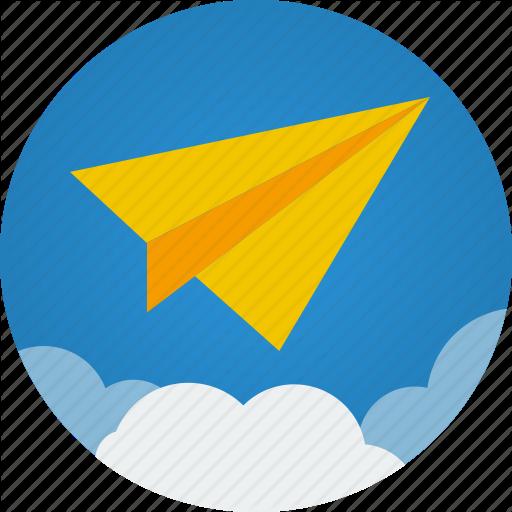 Cloud Clouds Communication Flight Mission Paper Paper Plane Icon Download On Iconfinder Paper Plane Plane Icon Graphic Illustration