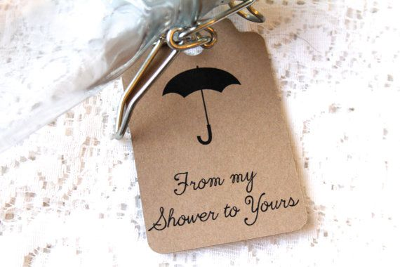 From My Shower To Yours Tag SMALL Bridal Shower by MBPaperDesign