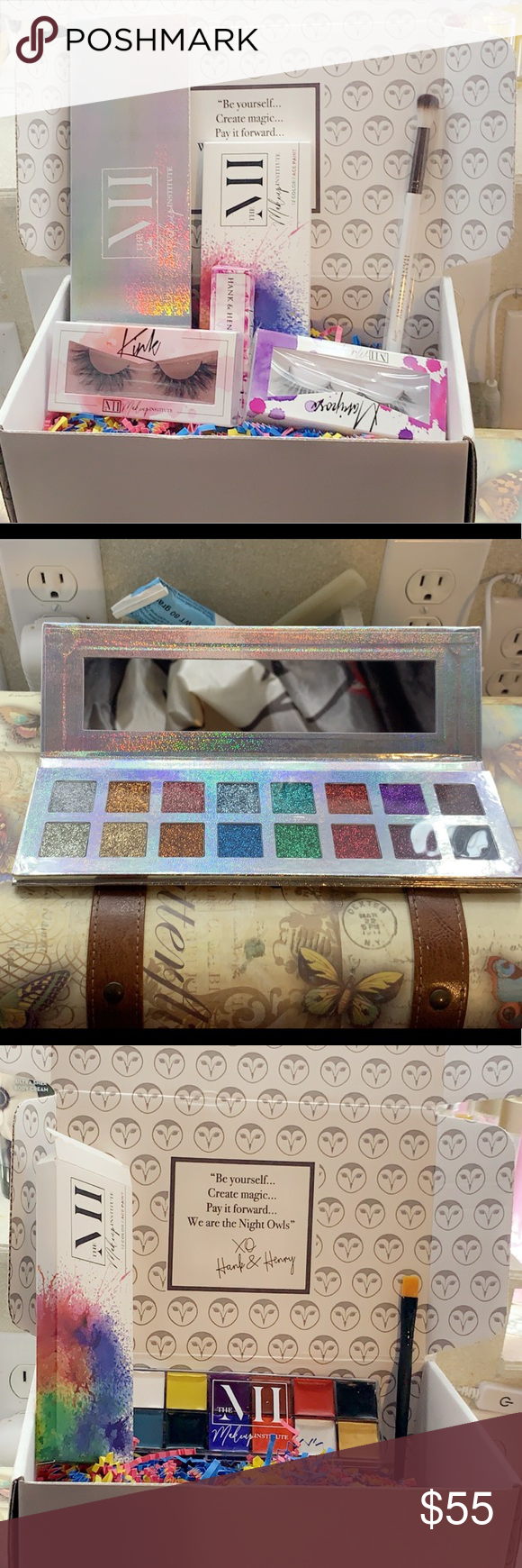 6 pc Hank and Henry/makeup institute box I bought the