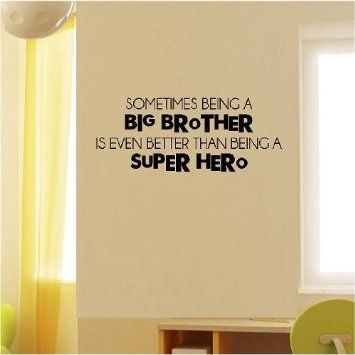 Amazon.com: Sometimes Being A Big Brother (M) Wall Saying Vinyl ...