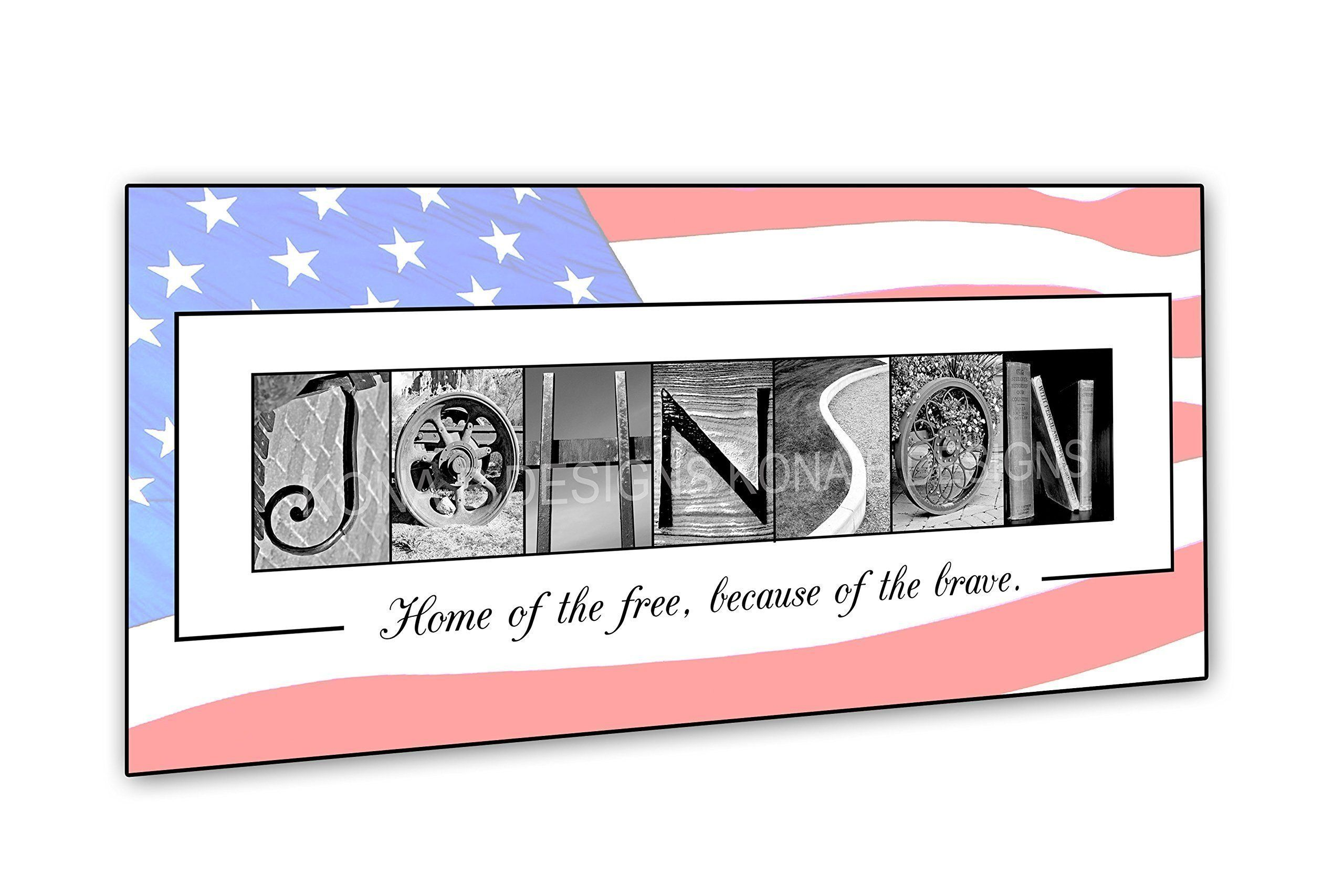 VeteranS Gift  Patriotic Gift  Military Gift  Personalized