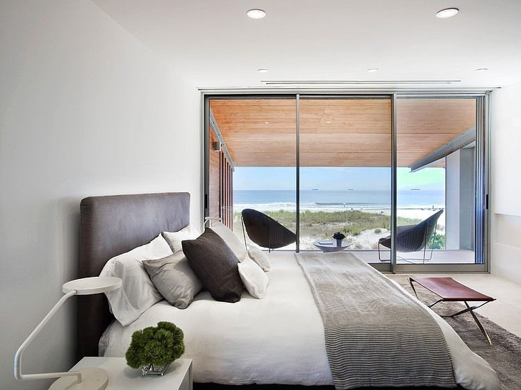 Long Island Beach House By West Chin Architect Stylish Bedroom