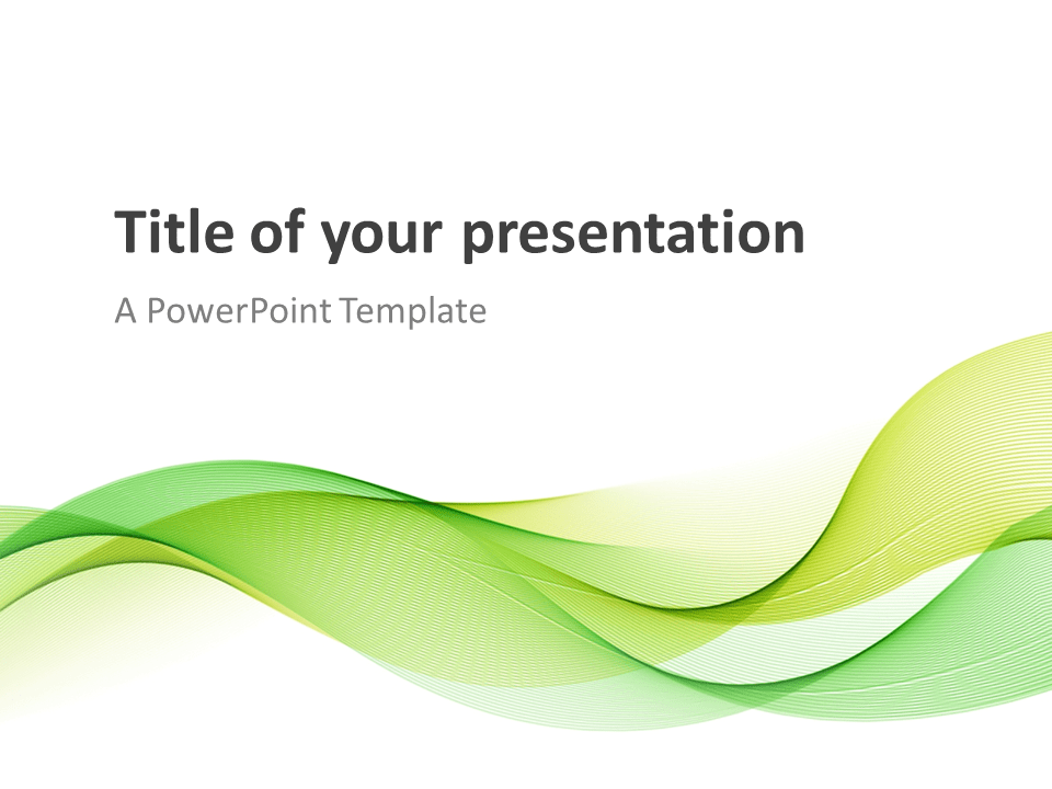 modern green waves - powerpoint template