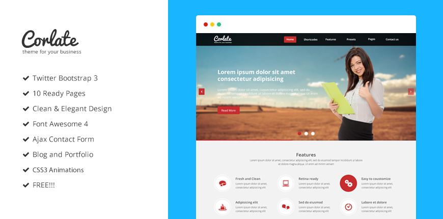Corlate free responsive business html template bootstrap corlate free responsive business html template wajeb Image collections