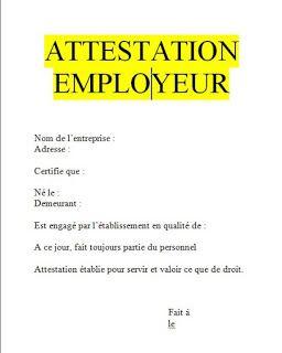 model attestation de travail word gratuit maroc .   Word doc, Modele attestation, Attestation