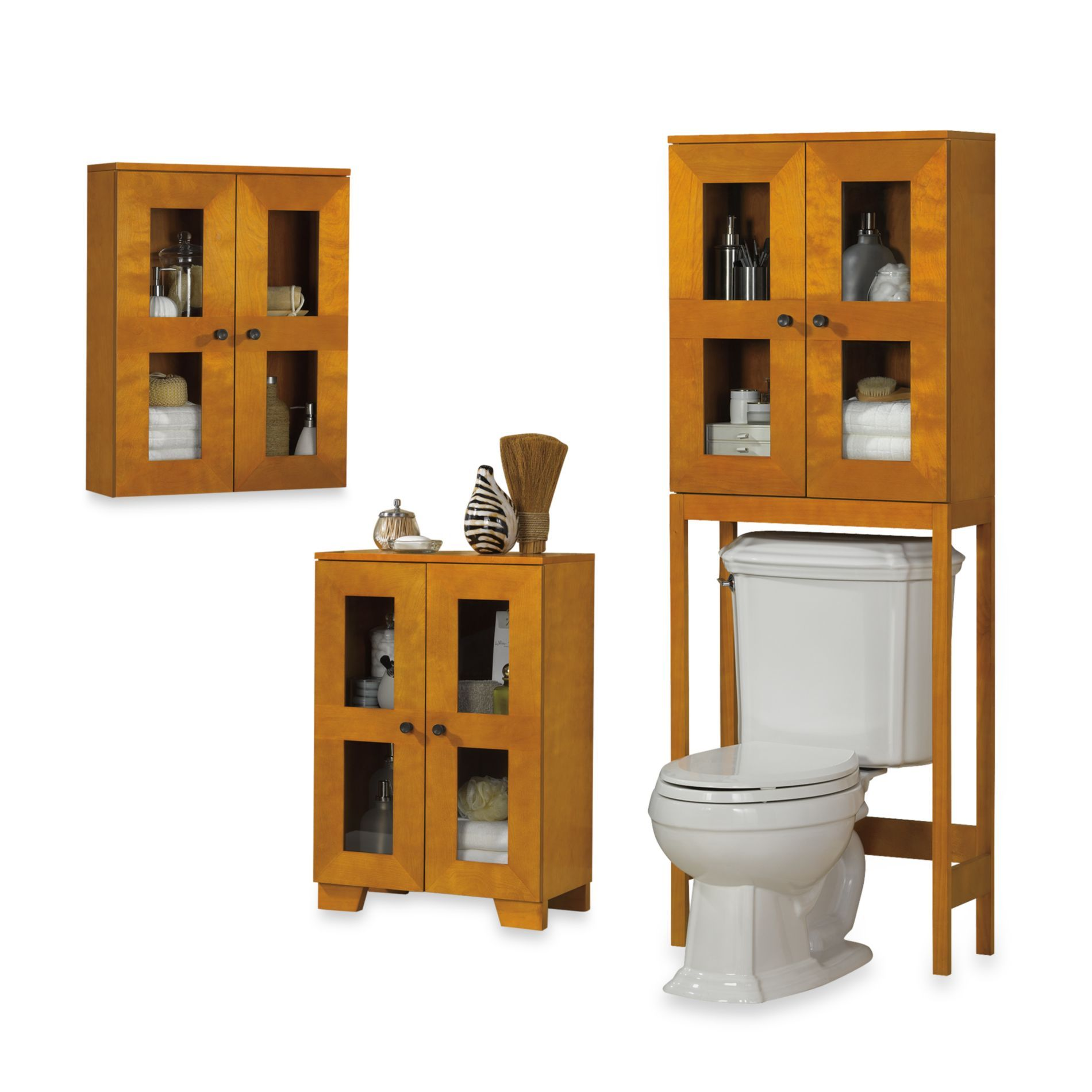 B Smith Somerset Light Walnut Space Saving Cabinets Bedbathandbeyond Com Cabinet Bed Space Saving Bed Bath And Beyond