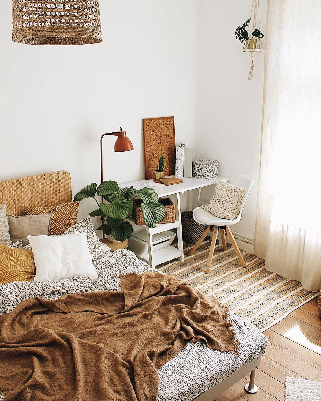 Arbeits Und Schlafzimmer In Einem Einrichten
