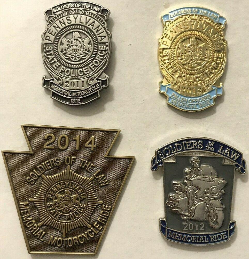 Pennsylvania State Police Lapel Pin Set Police Lapel Pin Police State Police