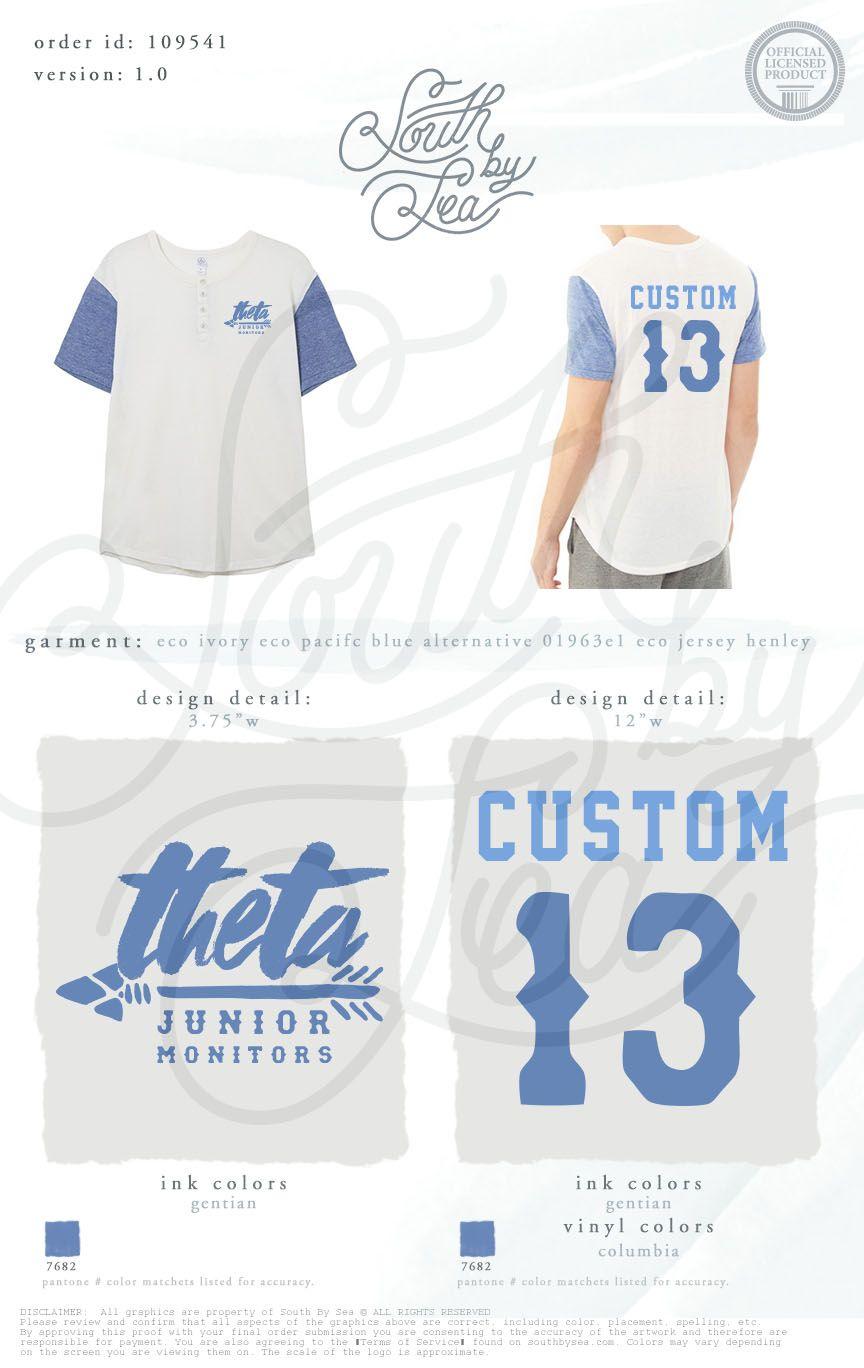 Kappa Alpha Theta Thetas Baseball Tee Custom Sorority Baseball