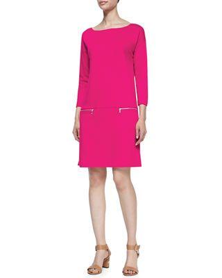 42f80f5fc Plus Size Knit Zip-Pocket Shift Dress | Products | Dresses, Joules ...