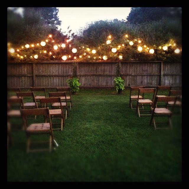 Backyard wedding | Wedding reception on a budget, Diy ...