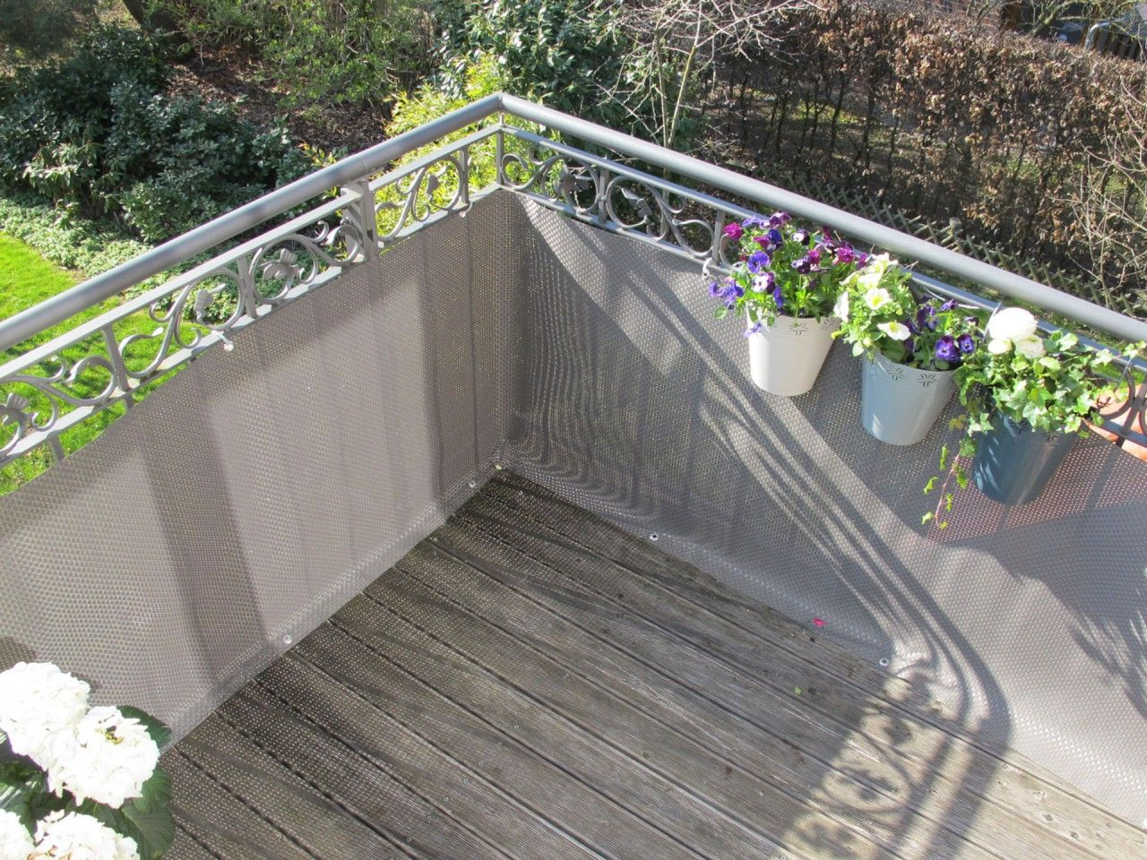 Balkonverkleidung Grau Balkonverkleidung Balkon Balkonbespannung
