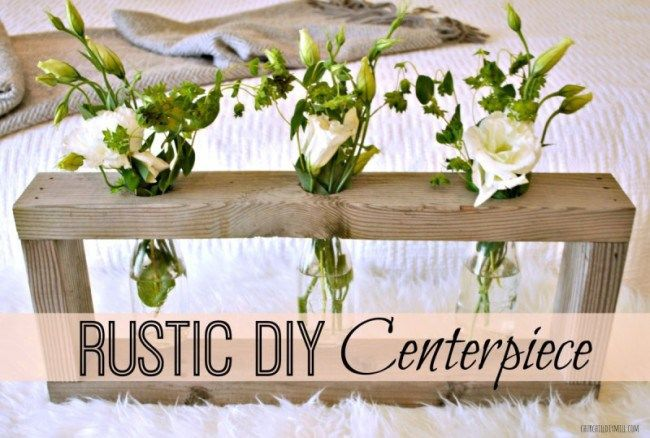 Home Depot Monthly Gift Challenge-Rustic Centerpiece - Churchill DIY Mill