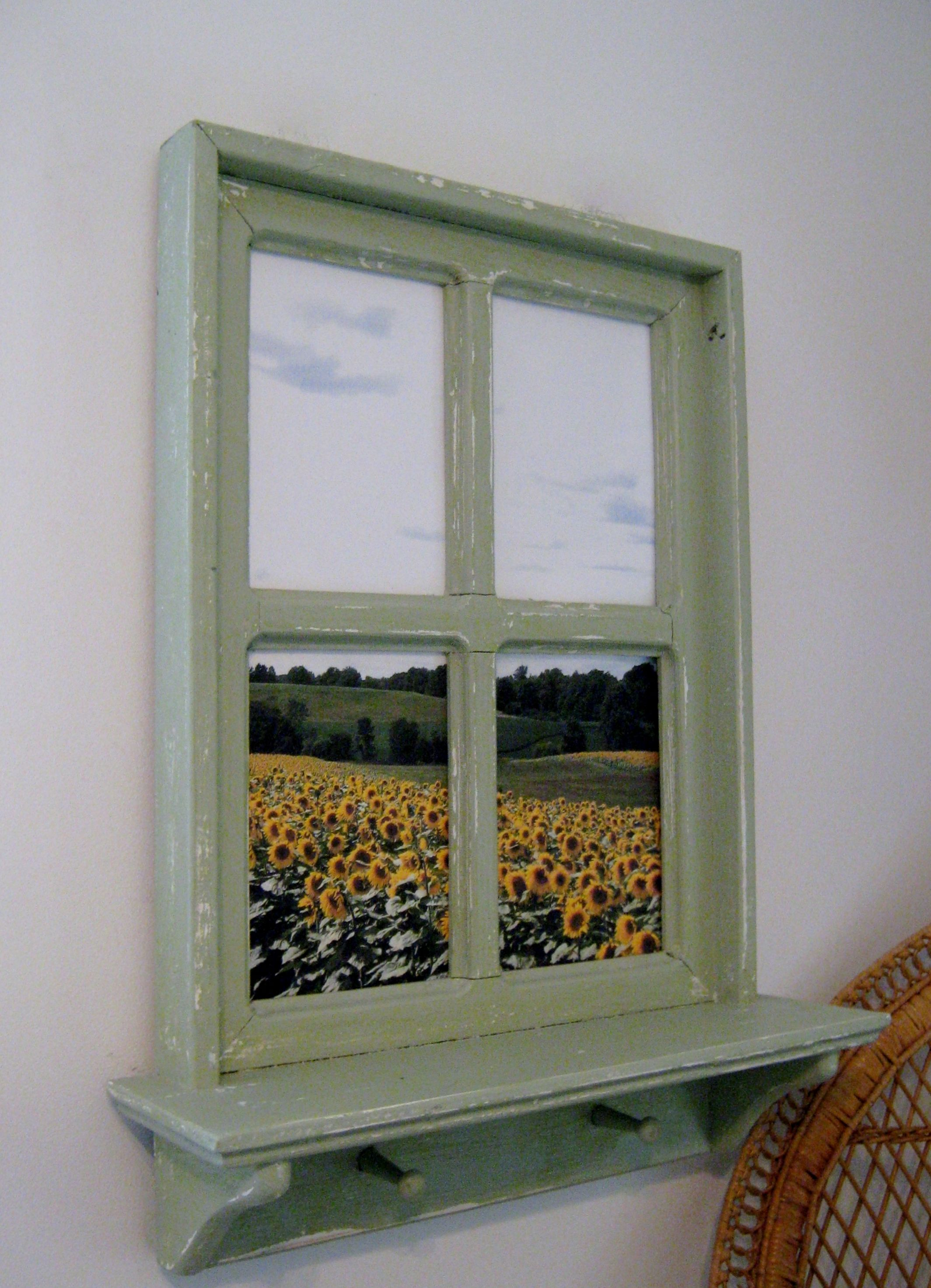 Shabby Chic Hand Crafted Faux Window Picture Frame 20\