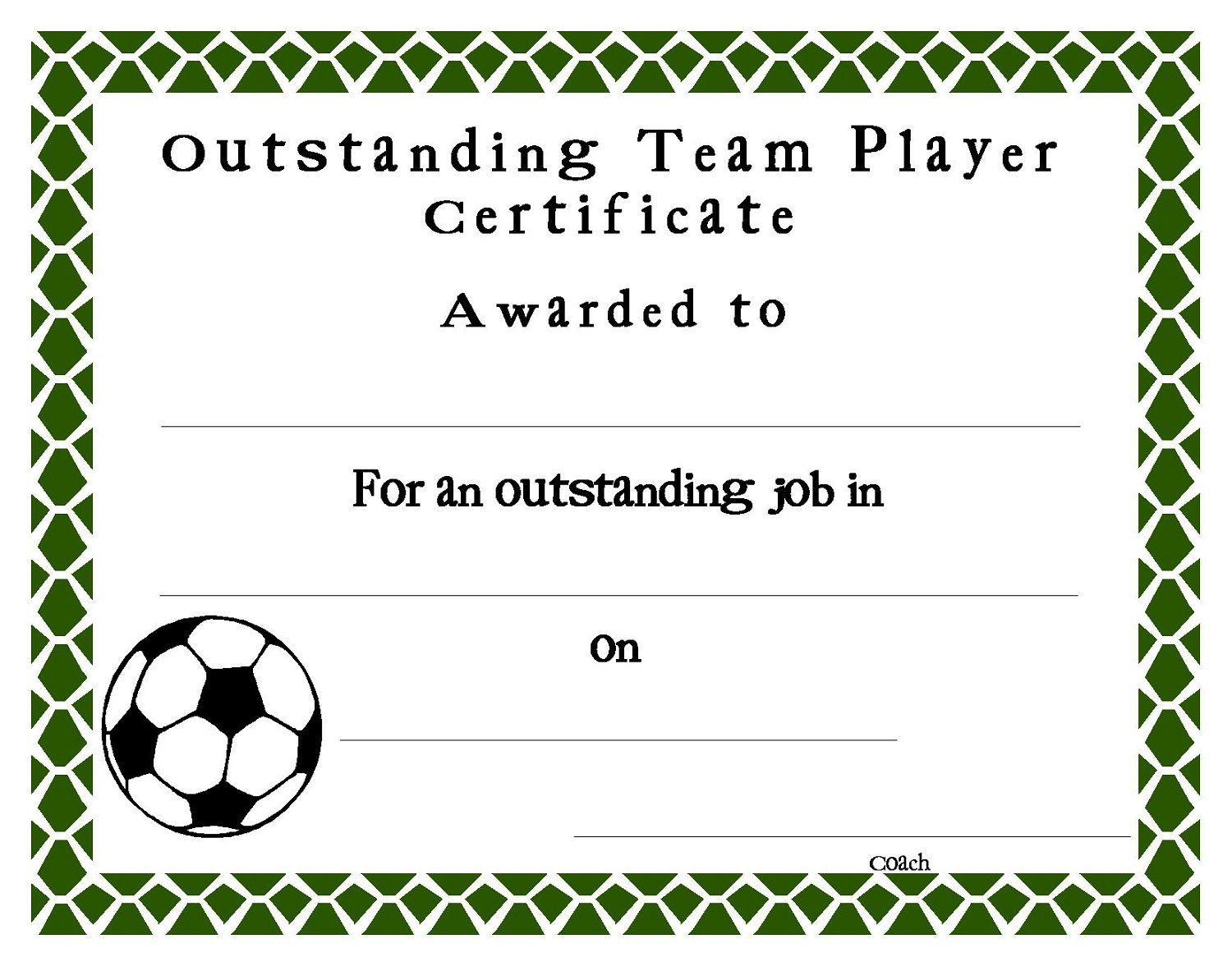 Soccer Certificate Templates Blank K5 Worksheets Within Soccer Certificate Templates For Word Cal Soccer Awards Award Template Awards Certificates Template Player of the game certificate