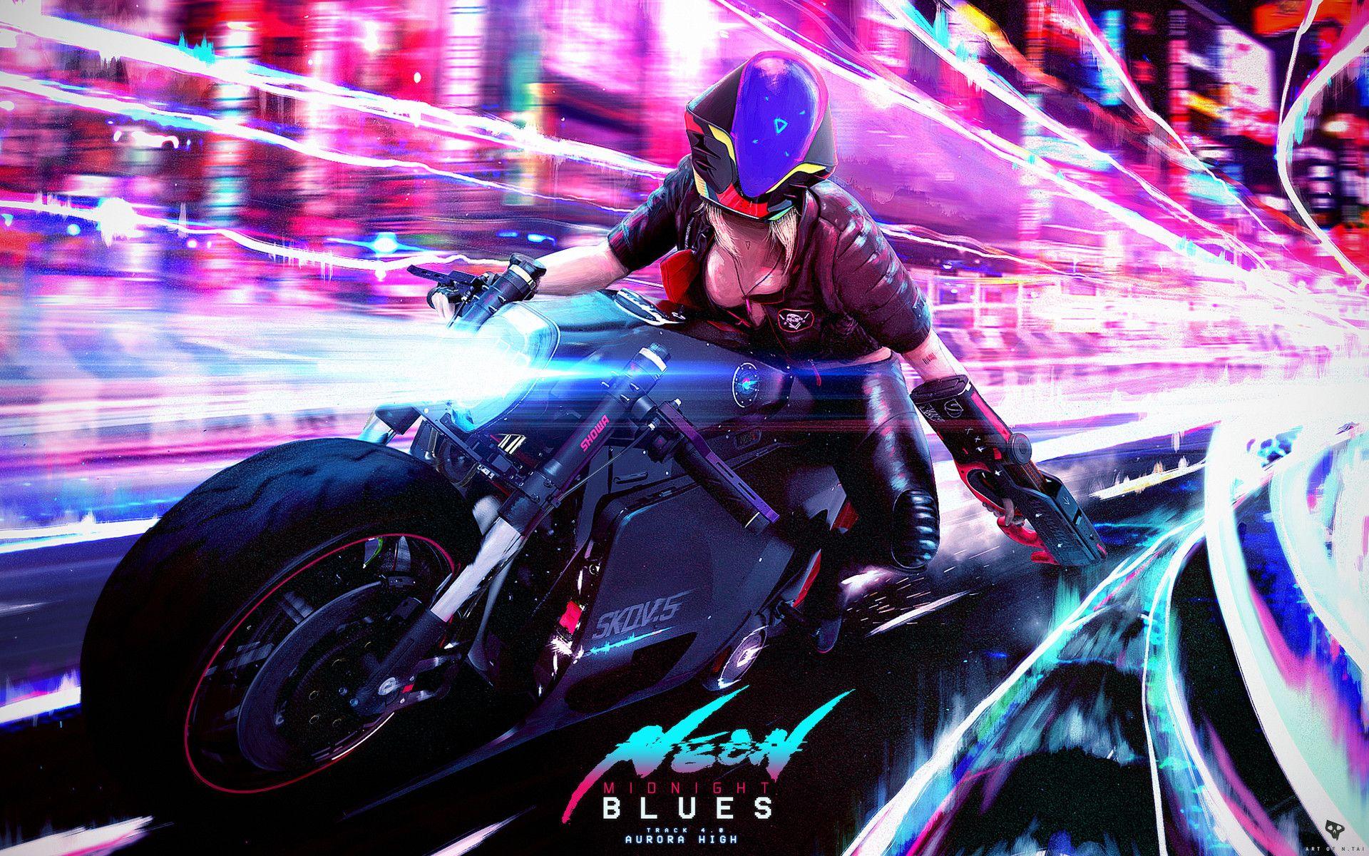 Artstation Neon Midnight Blues Aurora High Nelson Tai With