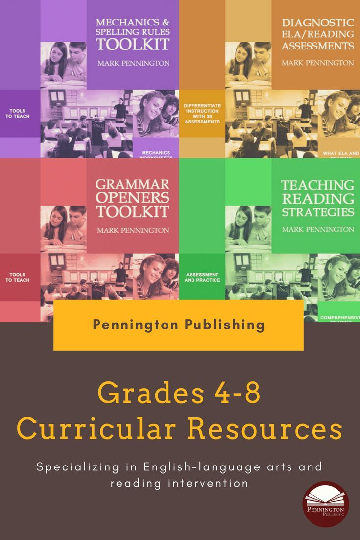 Grades 4, 5, 6, 7, and 8 ELA and reading intervention resources featuring  assessment-based instruction.