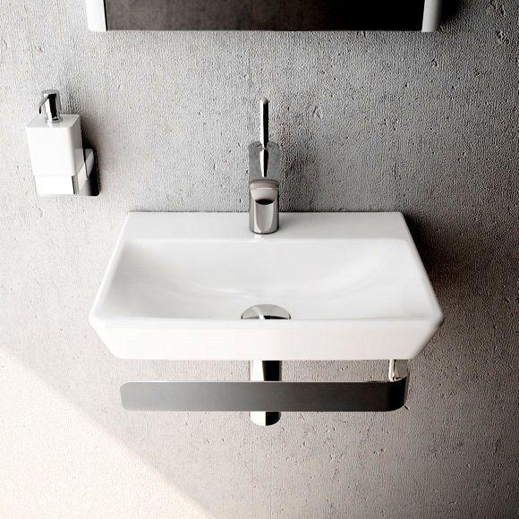 The Sleek Vitra T4 Bathroom Basin Stunning Against This
