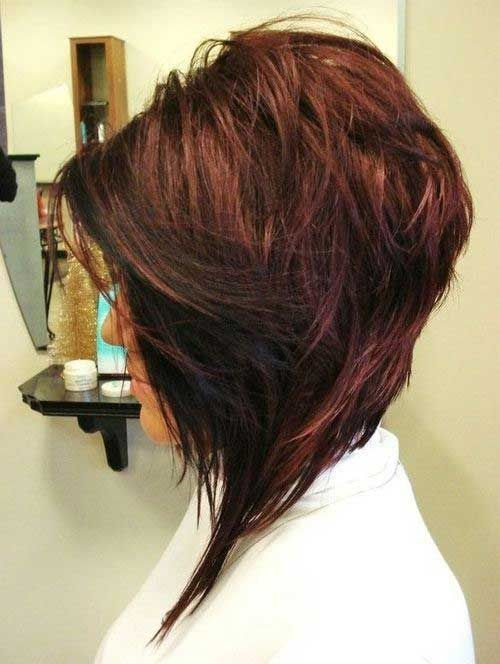 pics of angled layered bobs with bangs | Short Layered Angled Bob ...
