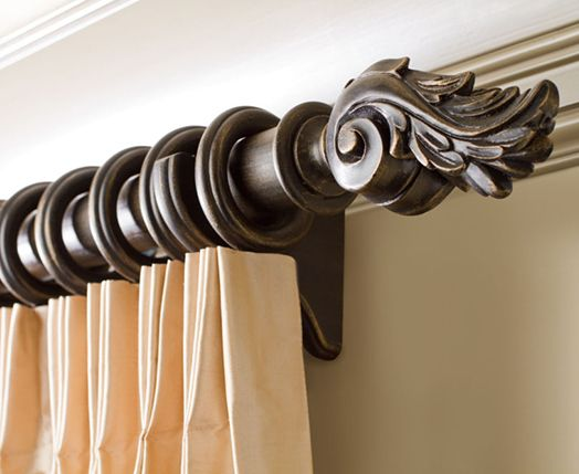 Kirsch Decorative Wood Drapery Hardware Poles