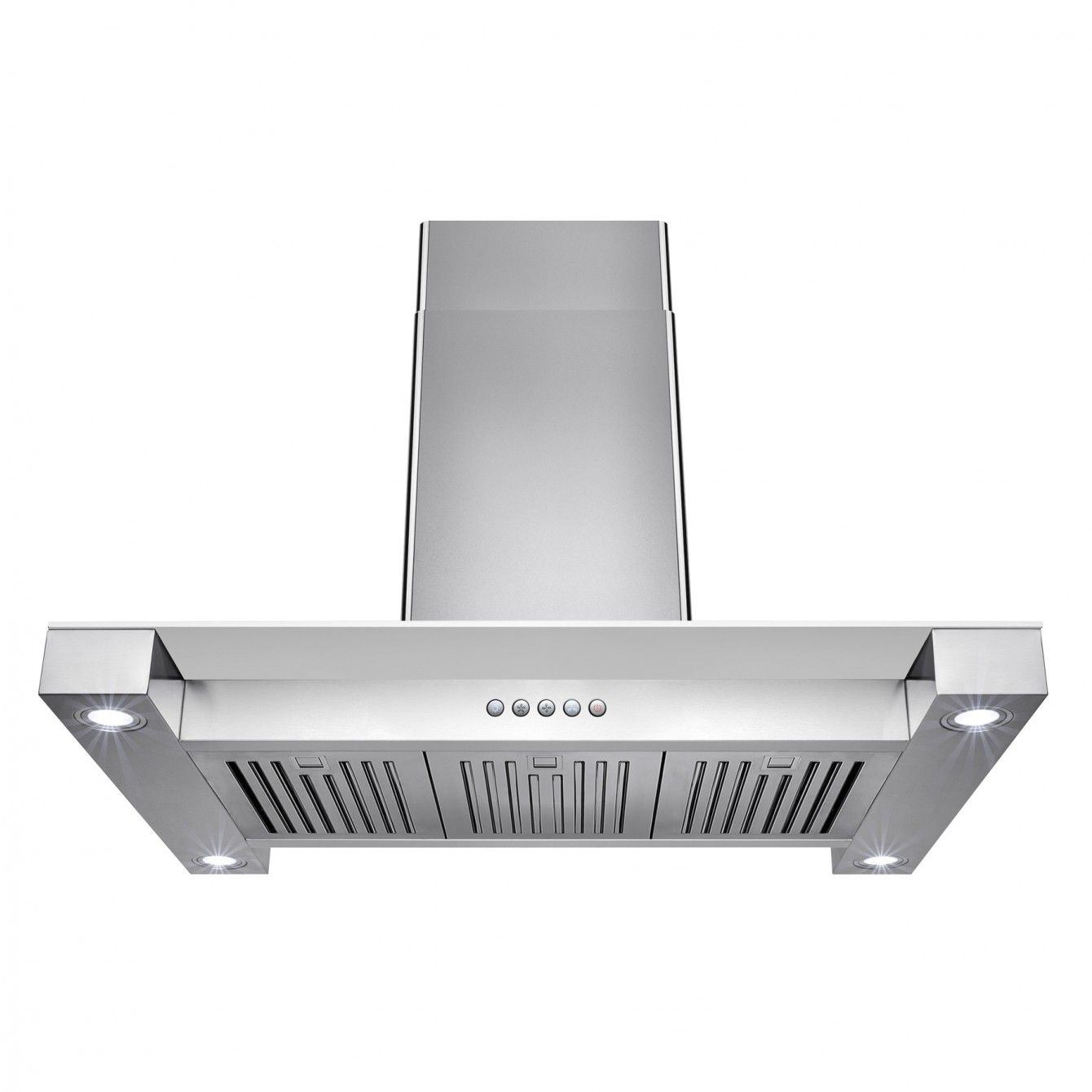 Golden Vantage Rh0278 36 In Convertible Kitchen Island Mount Range Hood In Stainless Steel With Touch Controls Island Mount Range Hood Range Hoods Stainless