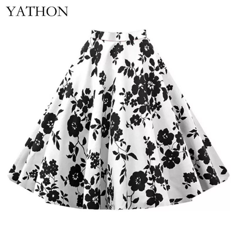 Oferta  Comprar Ofertas de Para Mujer Vintage Floral Swing Full Circle  Casual Falda Corto Retro Vestidos Blanco M barato. ¡Mira las ofertas! de8d8afeec05