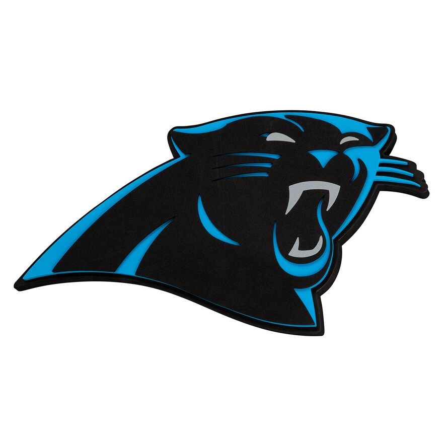 Carolina Panthers 3d Fan Foam Logo Sign Carolina Panthers Panthers Nfl Logo