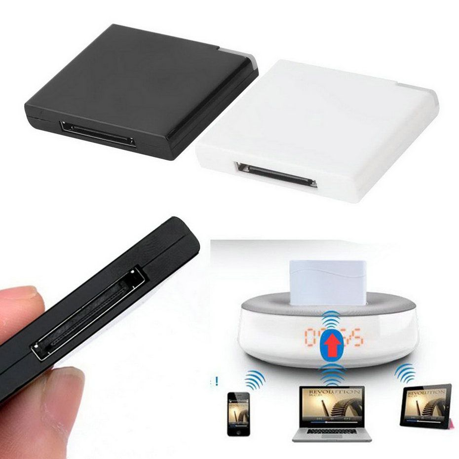 bluetooth v2 0 a2dp musik empf nger adapter f r ipod f r iphone 30 pin dock dockingstation. Black Bedroom Furniture Sets. Home Design Ideas