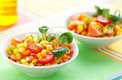 Salade tomate mais