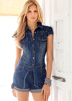 effd59322a5 Denim Romper