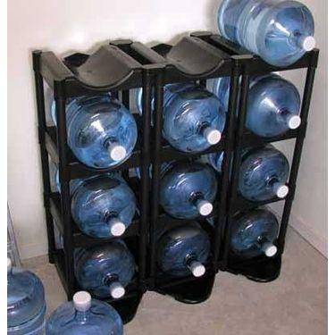 3 Tier Bottle Buddy Water Bottle Rack Made Of High Density Black