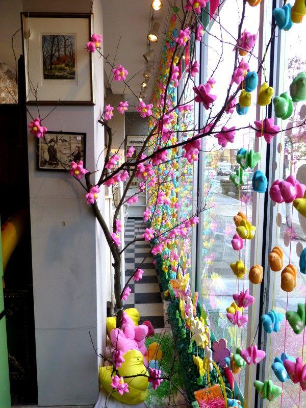 Window Decoration Peeps Easter Decorating Pinterest Deco