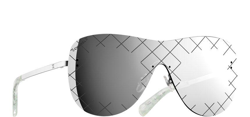 43d8df87d41 Chanel Shield Runway Sunnies.