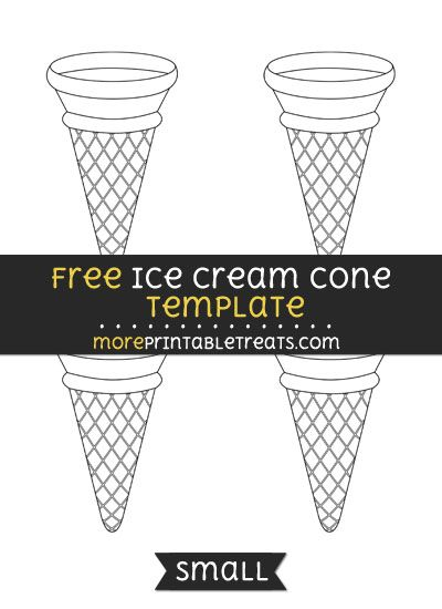 Free Ice Cream Cone Template - Small | Shapes and Templates ...