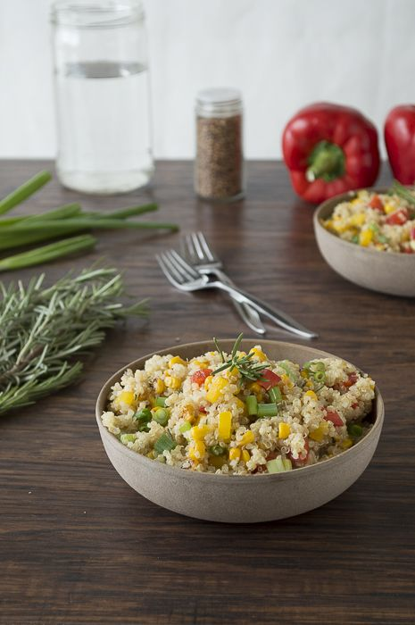 Quinoa and Bell Pepper Salad with Rosemary | The First Year