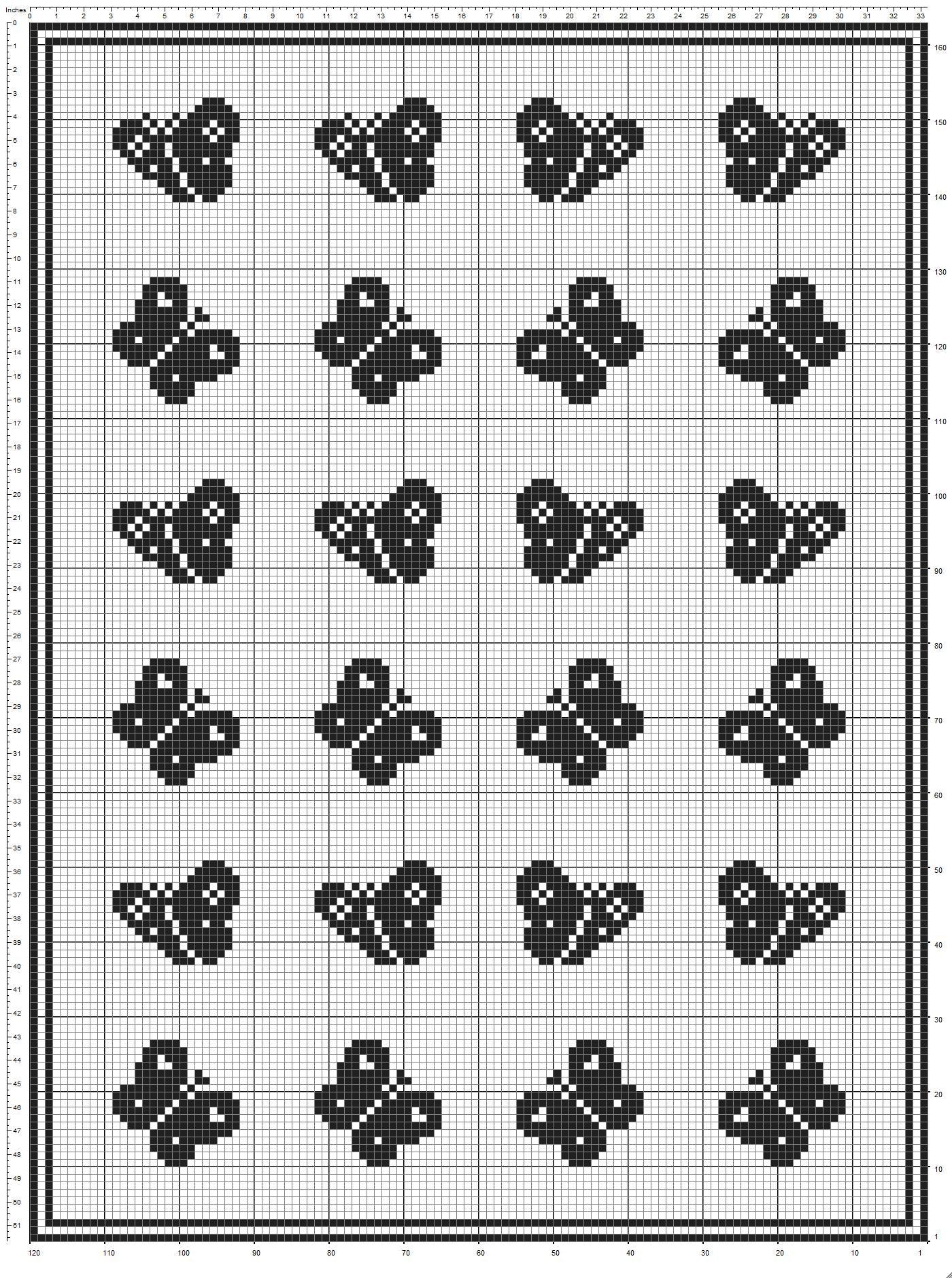 Baby blanket flight of butterflies filet crochet pattern (2 ...