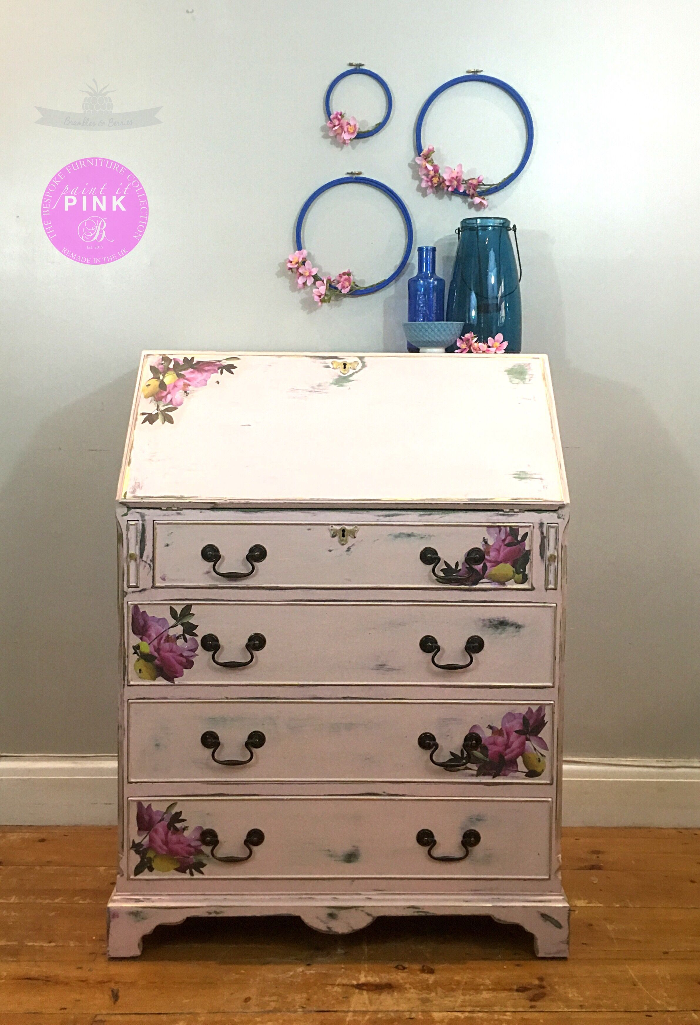 Superbe Citrus Bloom Pink Bureau Available To Buy Through Brambles And Berries Etsy  Shop. Vintage Bureau