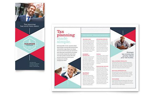 Tax Preparer Tri-Fold Brochure Template Trifold Brochure - free booklet template word