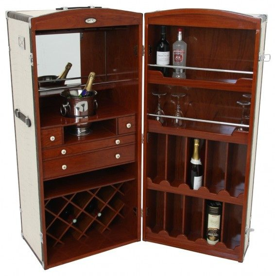 Mini Bar Cabinets: Converted Steamer Trunk To Mini Bar
