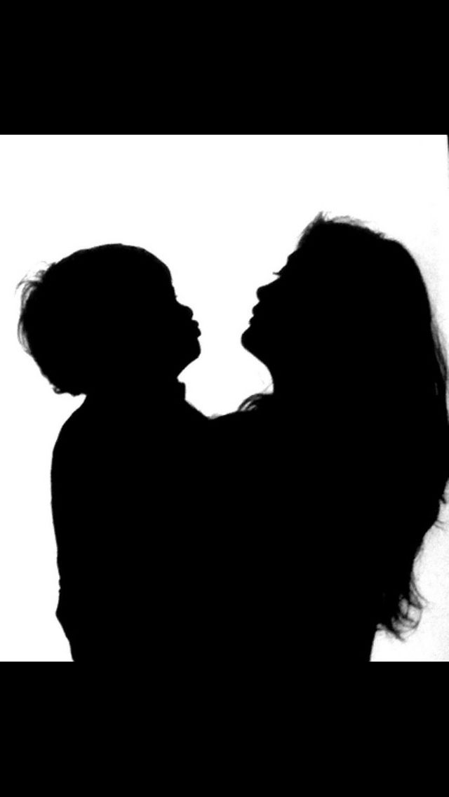 Image result for mom and son silhouettes
