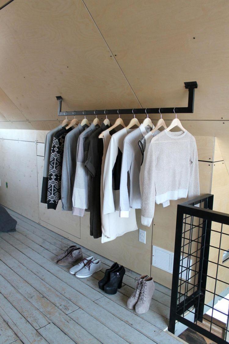 Beautiful kleiderstange kleiderschrank mode ideen stilvoll elegant dachschraege wandmontage
