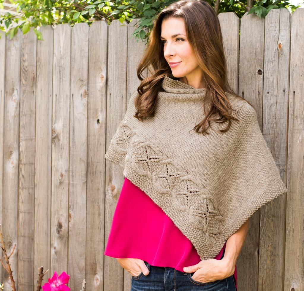 Wanda Estelle by Debbi Stone Knit Poncho Sweater Kit - None